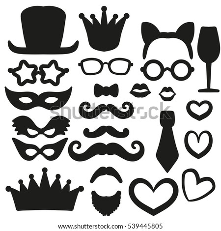 Big Set Laser Cutting Photo Booth Stock Vector 539445805 - Shutterstock