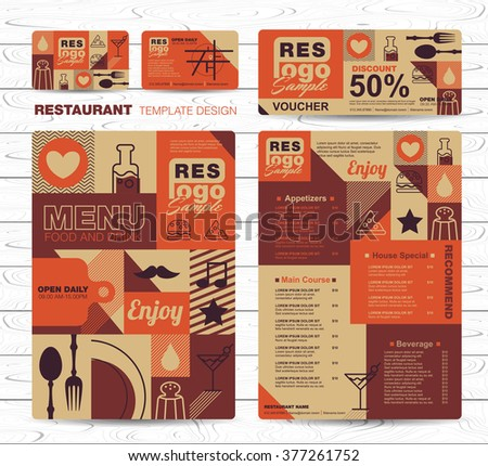 Big set of restaurant and cafe menu design,voucher,business card,Restaurant cafe menu, template design, Food flyer - stock vector