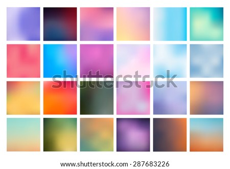 Nice backgrounds stock images royalty free images vectors big set of vector blurred backgrounds the collection covers for your projects colored meshes voltagebd Image collections