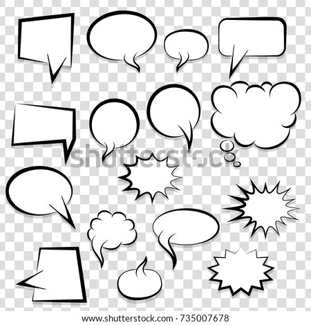 Big Set Picture Blank Template Pop Stock Vector HD (Royalty Free ...
