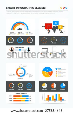 Big set vector info graphics elements in EPS 10. Use for workflow layout, banner, diagram, number options, step up options, web design - stock vector