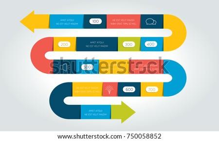 big snake arrow infographic template diagram stock vector 750058852 shutterstock. Black Bedroom Furniture Sets. Home Design Ideas