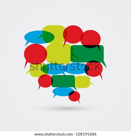 Big Speech Bubble from Smaller Speech Bubbles - stock vector
