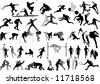Big Sport collection vector Silhouettes - stock