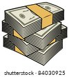 Big stack of money - stock photo