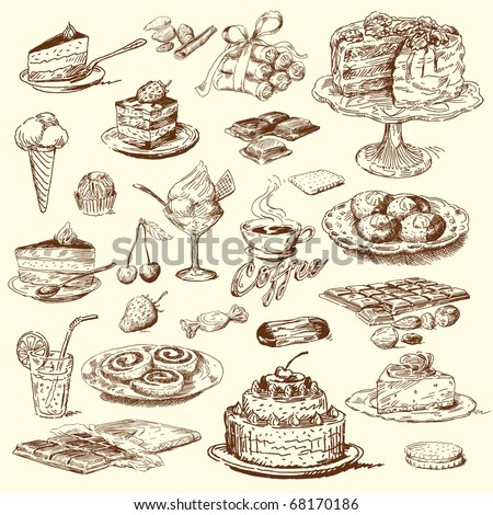 big sweet collection - stock vector