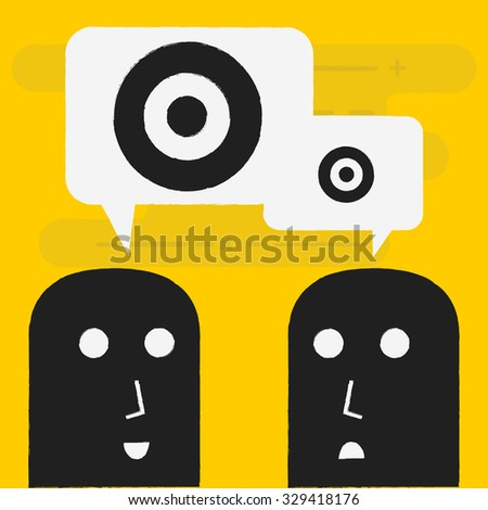 big target business concept - stock vector
