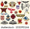 big tattoo collection (set of symbols) - stock vector
