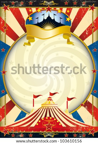 big top circus poster. A circus poster with a vortex for your advertising - stock vector