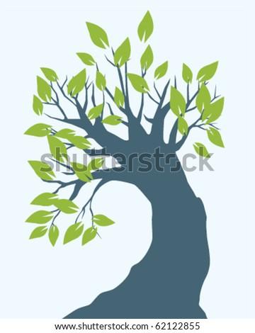 big tree - stock vector