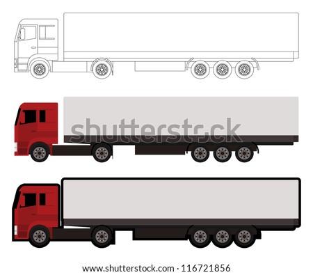 big truck - stock vector
