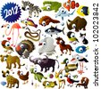 big vector animal set - stock photo