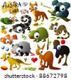 big vector australian animals set - stock vector