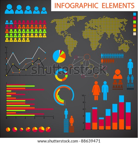 Big Vector collection of Infographic elements for your documents - stock vector