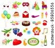 Big vector set: holidays. Detailed illustrations - stock photo