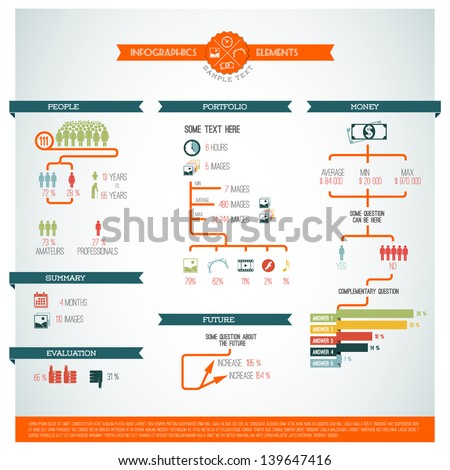 Big Vector set of Infographic elements for your documents and reports - stock vector