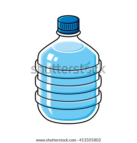 Big water bottle vector icon. - stock vector