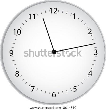 Big White Clock - stock vector