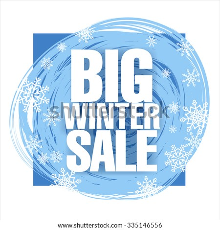 Big winter sale. Vector illustration