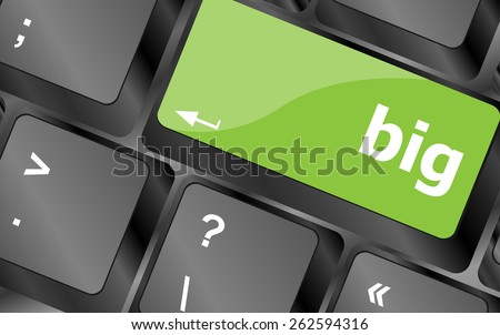 big word on keyboard key, notebook computer button - stock vector