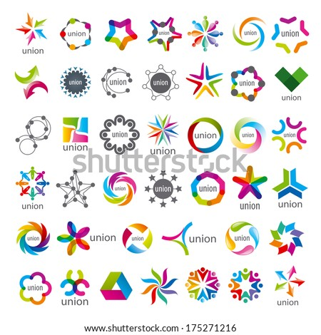 biggest collection of vector icons Union  - stock vector
