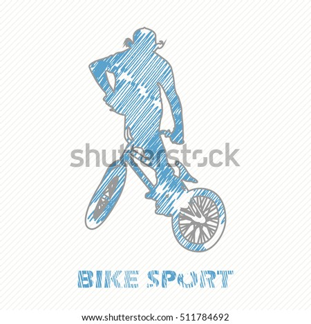 Extreme Cycling Stock Vector 91281263