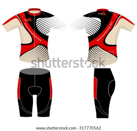 Bike graphic shirt design vector on a white background - stock vector