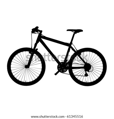 bike in vector - stock vector