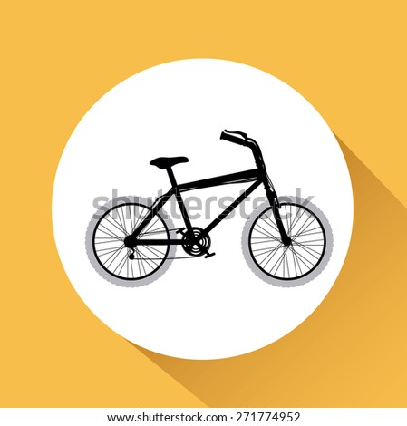 Bike lifestyle design over yellow background, vector illustration