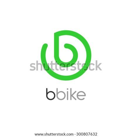 Bike Logo Design, Letter B logo design - stock vector