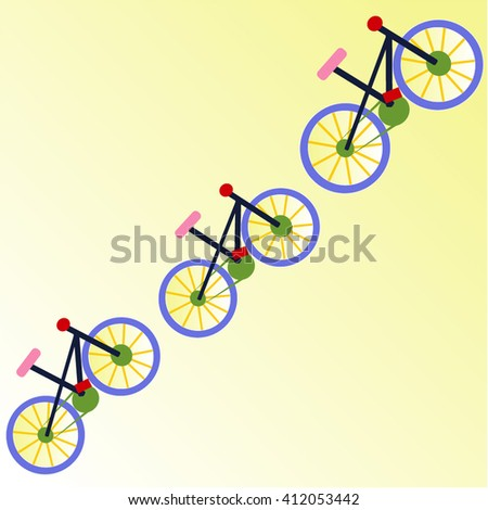 Bike pattern vector illustration . you can use this for the poster , background, wallpaper . - stock vector