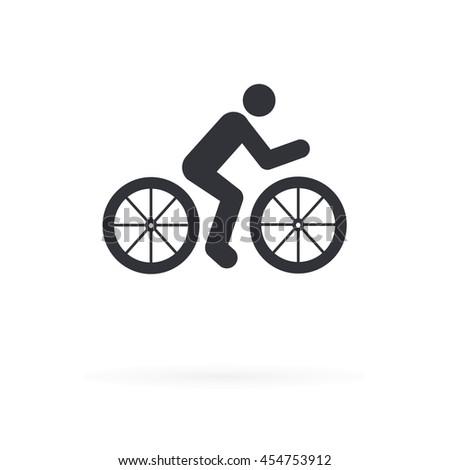Bike Rider Icon - stock vector