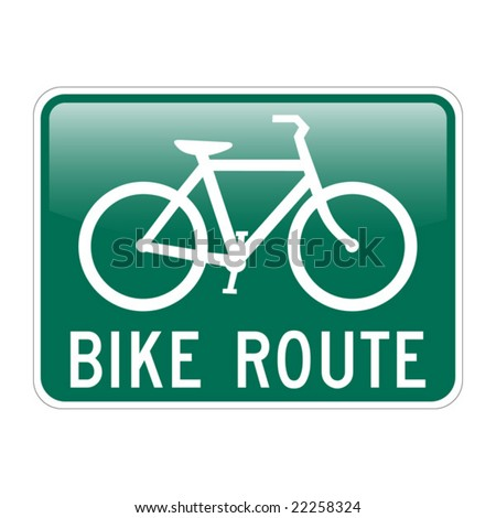 Bike Route with glossy effect - stock vector