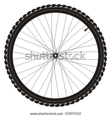Bike wheel - vector illustration on white background - stock vector