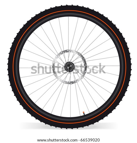 Bike wheel - vector illustration on white background. EPS 8 - stock vector