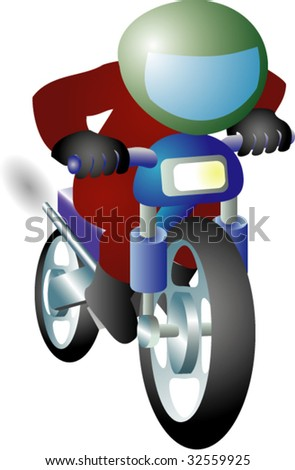 Biker goes somewhere on motorcycle.