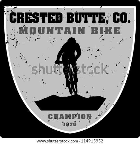 biking crested - stock vector