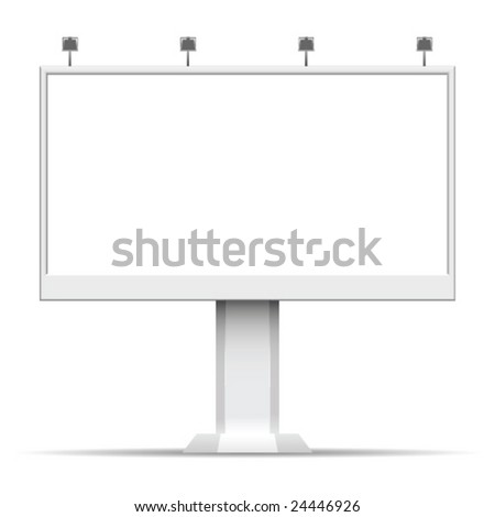 Billboard. Advertising areas. - stock vector