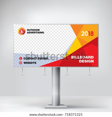 Billboard Design Graphic Template Placement Advertising Stock Vector ...