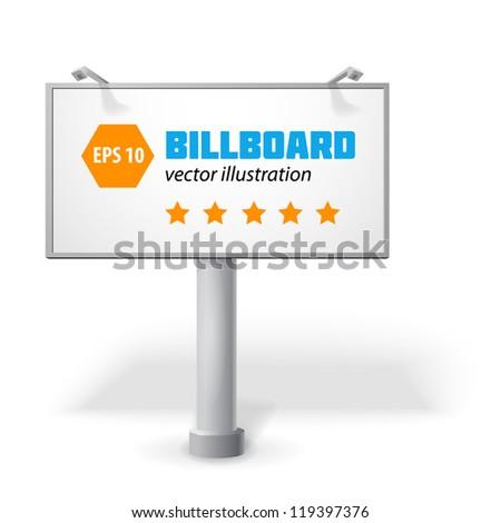 Billboard isolated. - stock vector