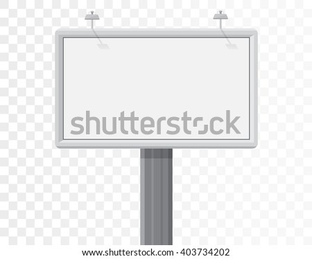billboard isolated on the alpha white background. - stock vector