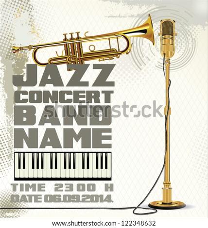 Billboard jazz concert - stock vector