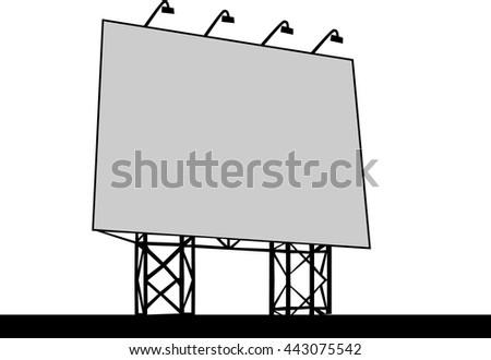 Billboard Outdoor Advertising Vector illustration - stock vector