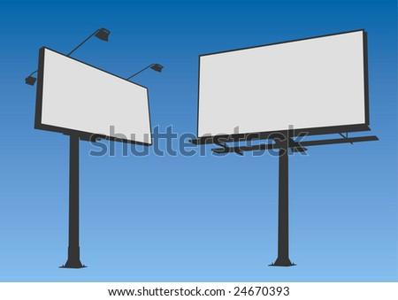 Billboard set vector - stock vector