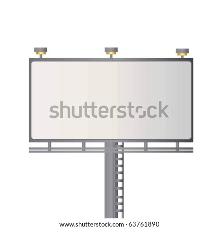 Billboard vector with blank space for your text and isolated on white - stock vector