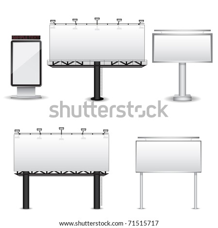 Billboards. Vector set. - stock vector