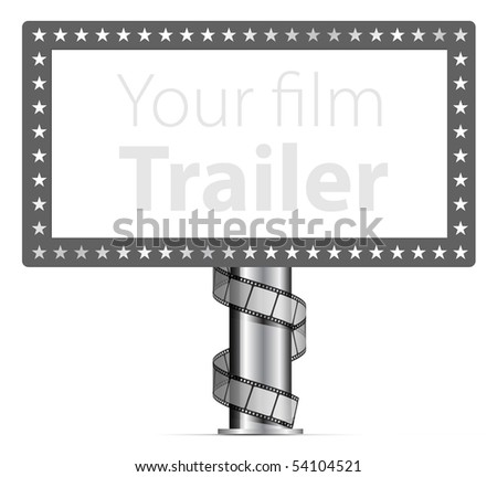 Billboards with wraps film strip illustration - stock vector