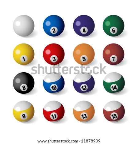 Billiard Balls - stock vector