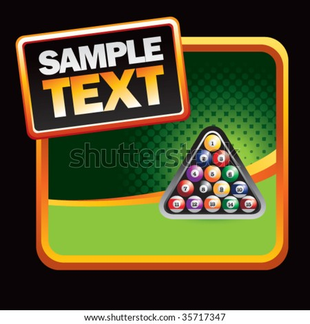 Scratch off win lottery ticket isolated stock illustration billiard balls on stylized banner sciox Images