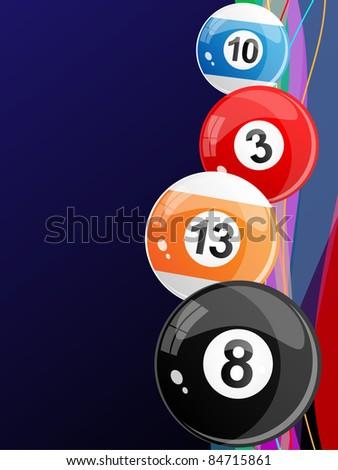 Billiard balls. Vector. - stock vector